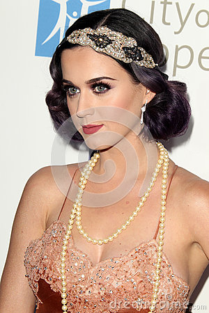 Katy Perry arrives at the City of Hope s Music And Entertainment Industry Group Honors Bob Pittman Event Editorial Image