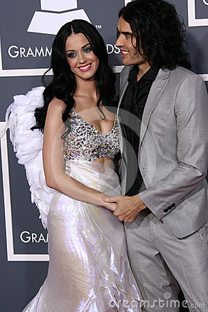 Katy Perry,Russell Brand Editorial Photography