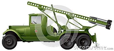 Katyusha multiple rocket launcher