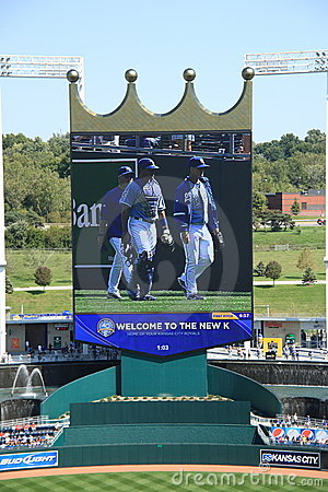 Kauffman Stadium - Kansas City Royals Editorial Stock Photo