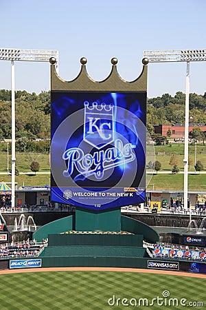 Kauffman Stadium Scoreboard Kansas City Royals Editorial