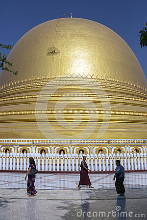 Kaung Mu Taw Pagoda - Sagaing - Myanmar Editorial Photo