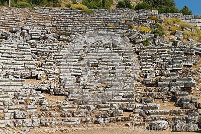 Kaunos amphitheatre  from Dalyan