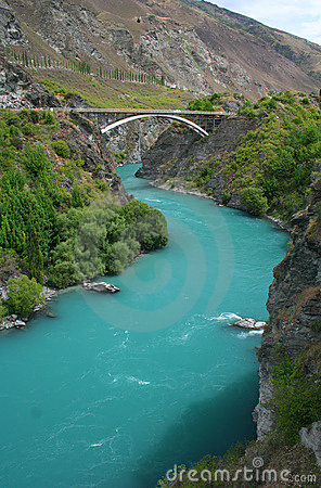 Kawarau river near Queenstown in New Zealand