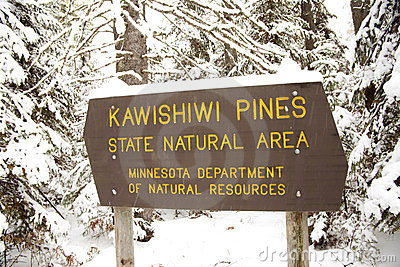 Kawishiwi Pines Natural Area Sign