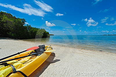 Kayak in the beach