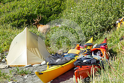 Kayak camping in Siskiyou Wilderness, North California