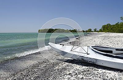 Kayak on Lake Ontario Shoreline