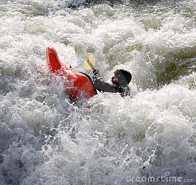 Free Kayak On The Rapids Stock Photo - 1898690