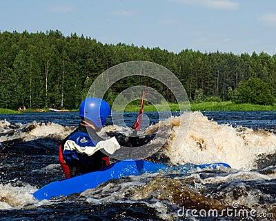 Kayak on river