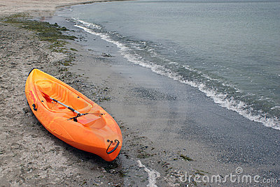 Kayak on seaside