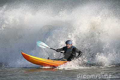 Kayak Surfing