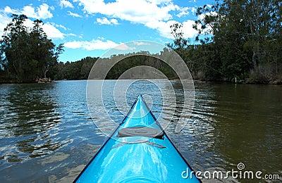 Kayak upstream