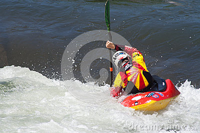 Kayaker Editorial Stock Photo