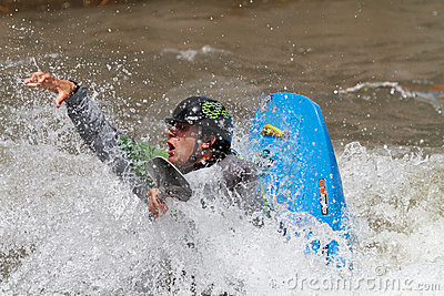 Kayaker competition Editorial Stock Photo