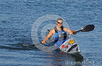 Kayaker showing off