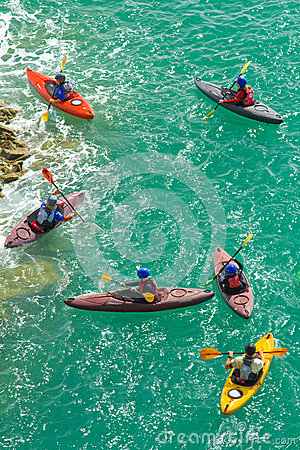 Free Kayakers On The Sea Royalty Free Stock Photos - 45314808