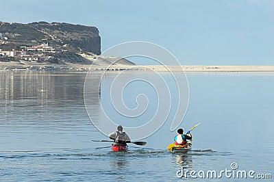 Kayaking on Óbidos Lagoon