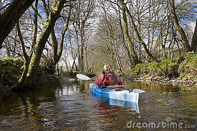 Kayaking on Kendrum Burn