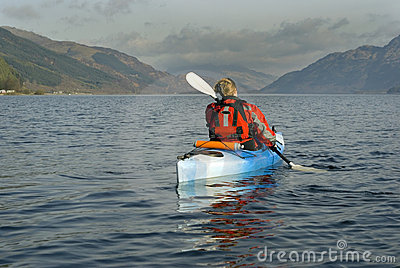 Kayaking on Loch Lomond