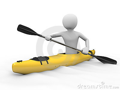 Kayaking man