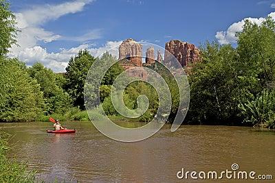 Kayaking near Cathedral Rock