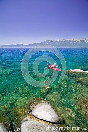 Free Kayaking On Lake Tahoe Royalty Free Stock Photography - 6510757