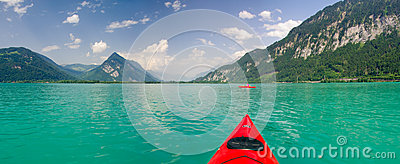 Kayaking on Thunersee