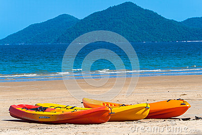 Kayaks Canoes Beach Tropics