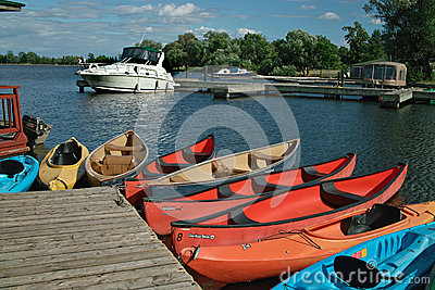 Boats for Rent Ottawa Ontario Canada. Editorial Photography