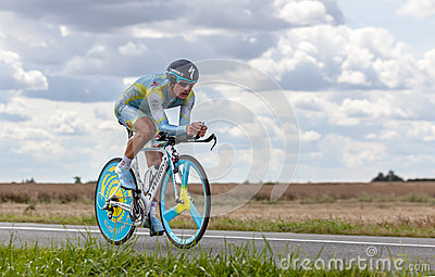 The Kazak cyclist Vinokourov Alexandre Editorial Image
