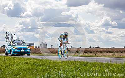 The Kazak cyclist Vinokourov Alexandre Editorial Photography