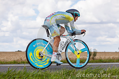 The Kazak cyclist Vinokourov Alexandre Editorial Stock Image