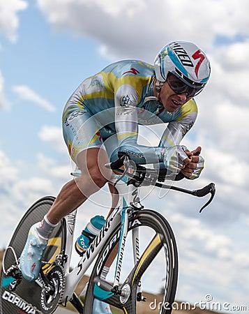 The Kazakh Cyclist Fofonov Dmitriy Editorial Photography