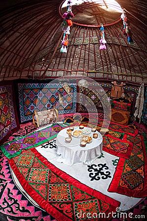 Free Kazakh Yurt Interior Stock Image - 51972071