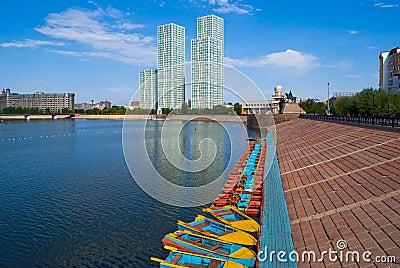 Kazakhstan. Astana.  Embankment.