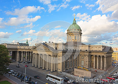 Kazan Cathedral in St. Petersburg, Russia Editorial Stock Image