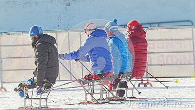 KAZAN, RUSSIA - March, 2018: Paralympic Athletes With ...