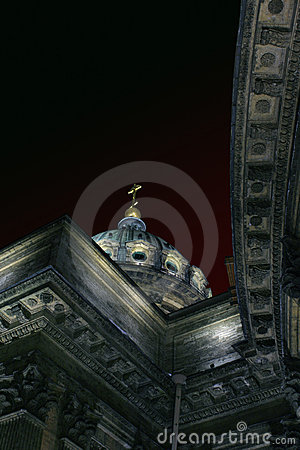 Free Kazansky Cathedral In The Night Stock Photos - 530303