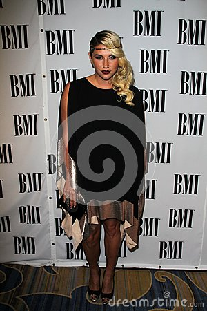 Ke$ha at the BMI Pop Awards, Beverly Wilshire Hotel, Beverly Hills, CA 05-15-12 Editorial Photography