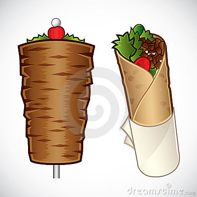 Free Kebab Illustration Royalty Free Stock Photography - 18763957