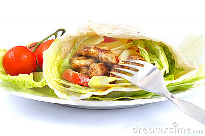 Kebab with vegetable
