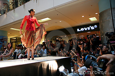Kebaya Model on Stage Editorial Image