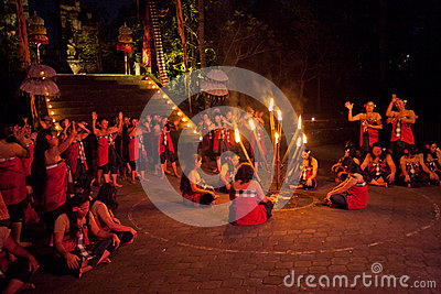 Kecak Dance Editorial Stock Photo