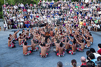 Kecak and Trance Dance at Dusk, Bali, Indonesia Editorial Image