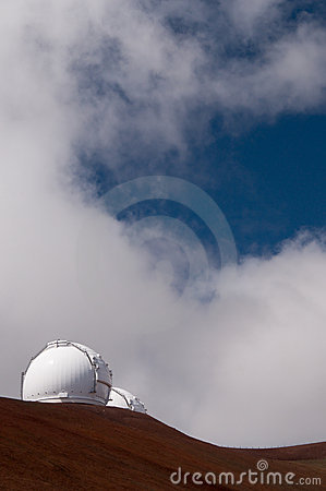 Keck telescopes, Mauna Kea, Big Island, Hawaii
