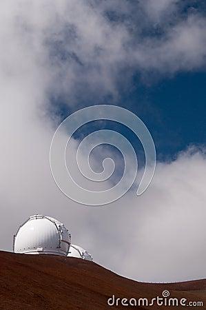 Keck telescopes, Mauna Kea, Big Island, Hawaii