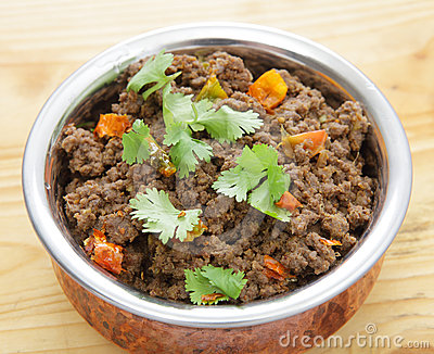 Keema minced beef curry