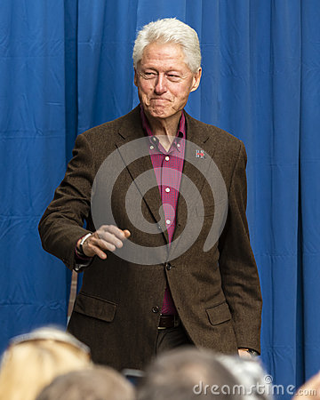 Free Keene, New Hampshire - OCTOBER 17, 2016: Former U.S. President Bill Clinton Speaks On Behalf Of His Wife Democratic Presidential N Royalty Free Stock Images - 85019729