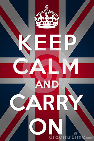 Free Keep Calm And Carry On - Union Jack Royalty Free Stock Photo - 25211345